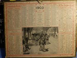 """Calendrier D' Epoque Almanach Des Postes Et Télégraphes Oberthur Année 1903 """"Cavalerie De St Cyr"""" E. CHAPERON  (2 Scans) - Formato Grande : 1901-20"""