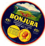 GF 481 /   ETIQUETTE DE FROMAGE POUR TARTINES   BONJURA  FROMAGERIE GROSJEAN FRERES A LONS LE SAUNIER (JURA) - Cheese