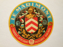 A-57067b - étiquette De Fromage - Camembert Le Marimont - Benestroff Moselle 57C - Formaggio