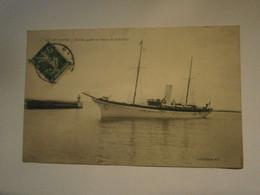 Le Havre Yacht Atmah Du Baron De Rotschild,Seine Maritime 76,voyagée Environ1910,très Bel état,pas Commun,envoi En Lett - Veleros