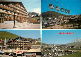 38 - Alpe D'Huez - Multivues - Automobiles - Bus - Téléphérique - Carte Neuve - CPM - Voir Scans Recto-Verso - Otros Municipios