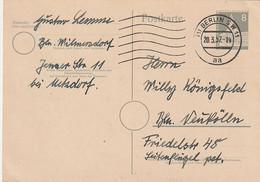 Berlin - 1957 - Postkarte Mi. P 31 Gestempelt (D872) - Postkarten - Gebraucht
