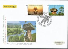 2014 Deutschland  Germany Mi. 3059-60 FDC   Wildes Deutschland - FDC: Enveloppes