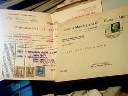BUSTA ANCONA INDUSTRIA OLII OLIO COLORI E FATTURA VB1940  HU2340 - Ancona