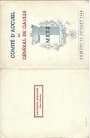 Invitation à METZ Pour La Visite Du Général De Gaulle  Le 31 Juillet 1948 Avec Programme - Historical Documents