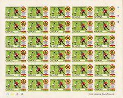 Ghana, 1978, Soccer World Cup Argentina, Football, Winners, Overprinted, Imperforated Sheets, MNH, Michel 771-774B - Ghana (1957-...)