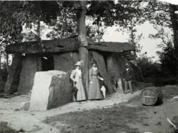 49 : Saumur - Dolmen De Bagneux - Très Belle Photo Animée (11cm X 8,5cm) - 1905 - (voir Scan) - Saumur