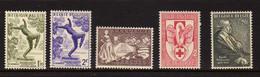 Belgique  (1955-56) -  Textile - Sculpture - Verhaeren - Don Du Sang  - Neufs** - MNH - Unused Stamps
