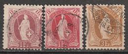 Suisse Avec Marque De Contrôle N° 78, 79, 80 - Usati