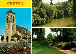 94 - Créteil - Multivues - L'Eglise Saint-Christophe - La Marne Le Bras Du Chapitre - Jardin De L'Ancienne Préfecture - - Creteil