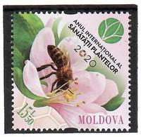 Moldova 2020 .  International Year Of Plant Health .Insectes , Flowers , Bees. 1v:15.50 - Moldova