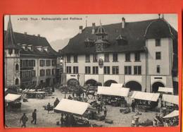 SIO-39  Thun  Rathausplatz Und Rathaus.  Marktplatz. Nicht Gelaufen. Photoglob 5742 . - BE Berne