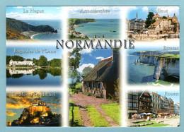 CP Normandie - Multivues - La Hague, Arromanches, Honfleur, Bagnoles De L'Orme, Etretat, Le Mont St Michel, Rouen - Haute-Normandie