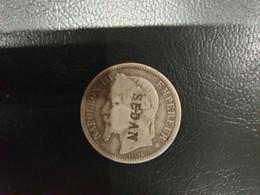 1 Francs Napoléon III, Tête Laurée, Contremarqué SEDAN  1867 En Argent 4 G - H. 1 Franco