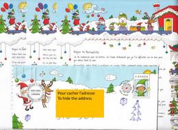 Canada, 2020, Lettre Du Père-noël, Santa Claus Letter, VERSION Française , French VERSION, Christmas, Lutin, - Christmas
