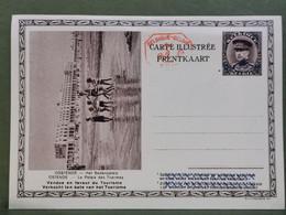Carte Postale, Ostende Le Palais Des Thermes , 25C + 25C Surchargé 35C - Postcards [1909-34]