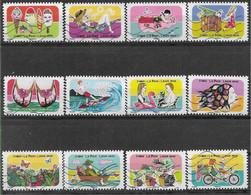 2020 FRANCE Adhesif 1873-84 Oblitérés, Vacances, Série Complète - Adhésifs (autocollants)