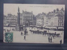 59359 . LILLE  . LA GRAND PLACE . COTE GAUCHE . E. C . ATTELAGES - Lille