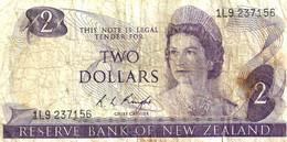 NEW ZEALAND $2 JAMES COOK WMK 1ST ISSUE HEAD OF QEII BIRD BACK ND(1975-77) SIGN KNIGHT P.164c W. 1992 READ DESCRIPTION - New Zealand