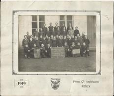PERUWELZ 1919 - Ecole Moyenne De L'Etat, Remerçiements Au Président Américain Wilson, Photo 16.5 X 12 Cm Intacte - Personnes Identifiées