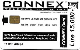 @+ Italie CONNEX à Puce (First Issue) - Code 01.000 - Ref: IT-STA-OTH-0010 - Öff. Werbe-TK