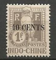 INDOCHINE Taxe  N° 28 NEUF ** SANS CHARNIERE / MNH - Ungebraucht