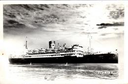 Thematiques  Paquebots Navire De Commerce Florida Daté Main 1953 - Koopvaardij