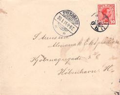 DENMARK - LETTER 1914 SVENDBORG > KOBENHAVN /G153 - Cartas