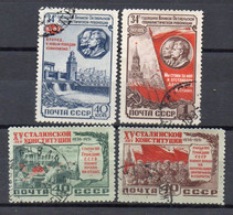 RUSSIA URSS 1951/52 N. 4 Francobolli Timbrati In 2 Serie Complete - Sammlungen (ohne Album)