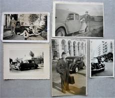 Lot De Photos Citroen Traction 11 Cv à Alger ( Carte Photo ) - Braine ( Aisne ) - Divers - Automobili