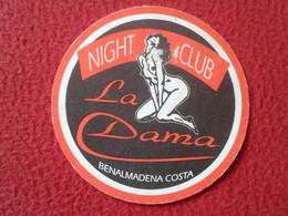 SPAIN POSAVASOS COASTER MAT ADVERTISING PUBLICIDAD NIGHT CLUB LA DAMA BENALMADENA COSTA MÁLAGA NUDE NAKED WOMAN FEMME... - Beer Mats