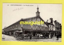 COMMERCE / HALLES / LE MARCHÉ COUVERT DE FONTAINEBLEAU (77) / ANIMÉE - Piazze Di Mercato