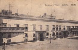 Thematiques Malte Malta Governor's Palace Valletta Cachet Au Dos Marine Française Service A La Mer - Malta