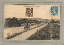 CPA (95) L'ISLE-ADAM - Mots Clés: Canal, Chemin De Halage, écluse, Péniche - 1925 - L'Isle Adam