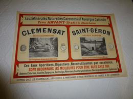 Affiche Ancienne Sources Arvant, Clémensat, Saint-Géron, RARE ; A 330 - Plakate