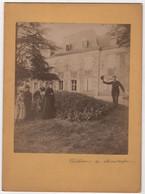 Photo Originale XIXème Château De MONTARFIER Belley Virignin Yenne Beau Format - Anciennes (Av. 1900)
