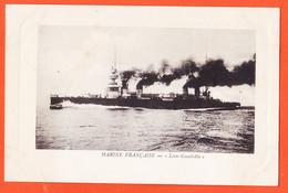 VaJ037 Ed. Luxe Détourée Le LEON-GAMBETTA Cuirassé Marine Militaire Française 1910s Comptoir Industriel - Krieg