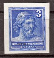 Probedruck, Test-Stamp, Bradbury Wilkinson & Co Ltd - Prove & Ristampe