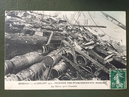 EPERNAY - 25 Juillet 1912- Incendie Des établissements MERCIER-Les Ruines Après L'incendie - Epernay