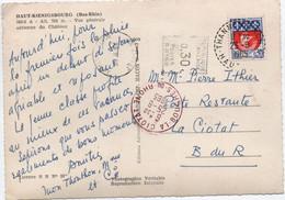 EMA Havas Noire Taxe  LA CIOTAT POSTE RESTANTE 0,30 / CP 30c Blason Paris Oblitération  B8 THANNENKIRCH 1965 - Affrancature Meccaniche Rosse (EMA)