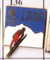 CC163 Pin's Albertville Jeux Olympiques IBM SKI Achat Immédiat - Computers