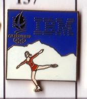 CC169 Pin's Albertville Jeux Olympiques IBM PATINEUSE PATINAGE Achat Immédiat - Computers