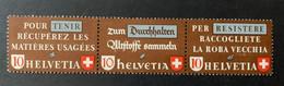 11252 - Timbres Pour La Récupération 1942 Z35b Bande De 3 Horizontale F-D-I  Neuf MNH ** - Se-Tenant