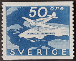 SUEDE / YT PA 6 / AVIATION - AVION - AÉROPORT BROMMA / NEUF * / MVLH - Unused Stamps