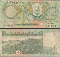 TONGA - 1 Pa'anga 1995 P# 31a Oceania Banknote - Edelweiss Coins - Tonga