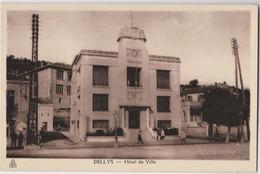 CPA Dellys En Kabylie  (Algérie) L'Hotel De Ville   Pub Esso    Ed   Ph Albert - Altre Città