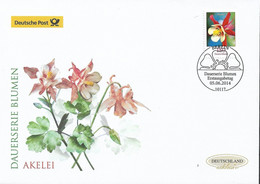 "2014 Germay  Deutschland  Mi. 3082 FDC  Blume: Akelei ""Crimson Star"" (Aquilegia Caerulea) - FDC: Enveloppes"