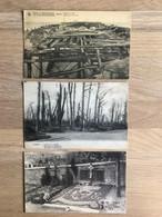 9 Oude Postkaarten, Militairen W.O. 14-18 O.a. Hemiksem, Houthulst, Zillebeke - Houthulst