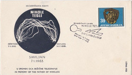 Nikole TESLA In Memory Of The Father Of Wireless - Unclassified