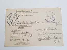 Carte De Prisonnier Stalag II A Geprüft 85 1942 Neubrandenburg - 1939-45